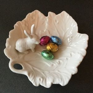 Other - White Bunny Candy Dish or Jewelry Display